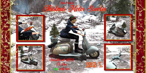 UI Christmas Motor Scooter