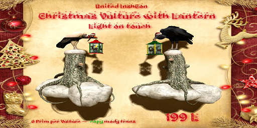 UI Christmas Vulture with Lanterns