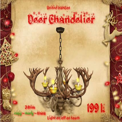UI Deer Antler Chandelier