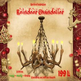 UI Reindeer Antler Chandelier